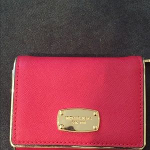 Michael Kor Red trifold wallet